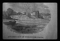 Ancient cut of Vergennes Falls