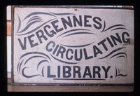 Sign for Vergennes Circulating Library