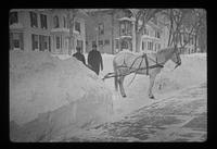 "Winter: Raymond Slack, Raymond Charboneau, and horse ""Dick"""
