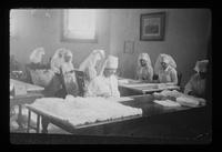 World War I, Mrs. Norton and ladies wrapping bandages