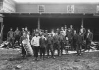 Workers in front of basket factory, Williamsville, Vt.