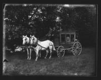 Stage coach with Ed Willard driving, Williamsville, Vt.
