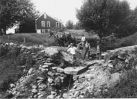 Building a bridge with stone culvert on Parrish Road, Newfane, Vt.