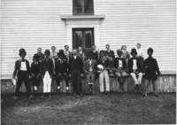 Portrait of Minstrel Band at East Dover Church, Dover, Vt.