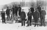 Group portrait of loggers in Wardsboro, Vt.