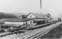 Mountain Mills with railroad tracks, Wilmington, Vt.