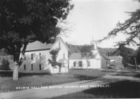 Grange Hall and Baptist Church, West Halifax, Vt.