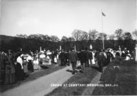 Crowd at Cemetery, Memorial Day,.09.