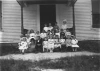 Miss Clark and her Sunday School Class in Jamaica, Vt.
