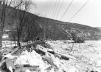 Ice jam on Island Park, looking toward New Hampshire