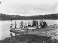Boy Scouts Fishing on South Pond, Marlboro, Vt.