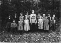 Children and Teacher Miss Cole at the South Branch School, Marlboro, Vt.