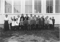School Class Picture with Teacher Miss Palmer, Newfane, Vt.