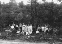 Union District School Class Picture with Teacher Miss Edith Landman, Newfane, Vt.