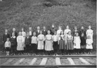 School Class Picture with Teacher Miss Streeter, Newfane, Vt.