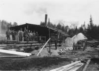 Workers in front of Wardsboro Sawmill, Wardsboro, Vt.