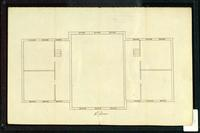 Plan for Old Mill building, University of Vermont, Burlington, 1820s
