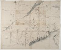 Map of Country to be Explored, survey map to establish US/Canada border, undated