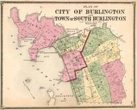 Plan of City of Burlington and Town of South                             Burlington