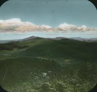 Bolton Mountain and Mansfield from Couching Lion (Camel's Hump) in Duxbury, Vermont