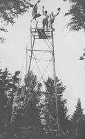 30 foot tower on Bolton Mountain