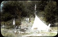 Ernest and Alarie Lesage at their tent in Nebraska Notch