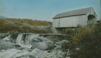 Dam and covered bridge near Lincoln, Vermont