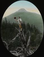 Emily Drake Jackson en route to Couching Lion (Camel's Hump)