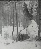 Cowles and Little in camp at Smugglers' Notch