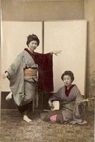 Two female performers