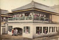 Tea house with waitresses