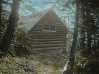 Elihu B. Taft Lodge from trail to the chin of Mount Mansfield