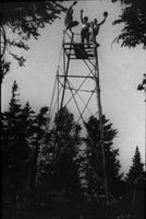 30 foot steel tower on Bolton Mountain
