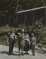 Mr. and Mrs. and Edson Bigelow at Smugglers' Notch Camp