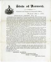General order no. 19 ... It appearing to the Commander in Chief                             that the people of the State of Vermont are earnestly anxious, that the                             number of men, required from this State to serve for nine month