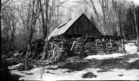 Woodpile behind sugar house