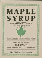 Eli Camp Maple Syrup