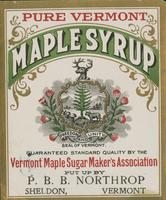 P.B.B. Northrop Maple Syrup