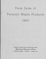 Farm sales of Vermont maple products 1960