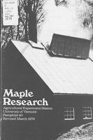 Maple Research Program at the Proctor Maple Research Farm