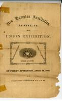 Union exhibition on Friday afternoon, April 28th,                             1865