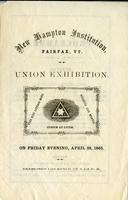 Union exhibition on Friday evening, April 28th,                             1865