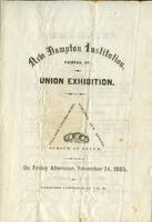Union exhibition on Friday afternoon, November 24th,                             1865