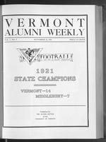 Vermont Alumni Weekly vol. 01 no. 09