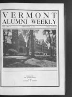 Vermont Alumni Weekly vol. 01 no. 01