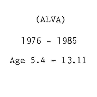 (Alva) Catalogue