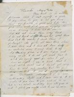 Mary Pratt to Ruth Fletcher, 1847 May 6 and Almira T. to Ruth                            Fletcher, 1847 May 6