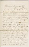 [Mary Harvey?] to Ruth and Andrew Fletcher, 1860 January                         19
