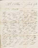 Andrew Craig Fletcher to Andrew and Ruth Fletcher, 1866 July                         8