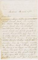 George B. Smith to [Andrew Craig Fletcher?], no year March 17